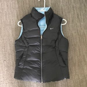 Nike Reversible gray and baby blue down filled